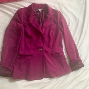 NY Collection Blazer -Purple - XS